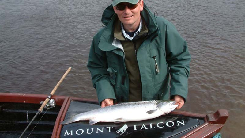 Stuart Price with a Spring Salmon