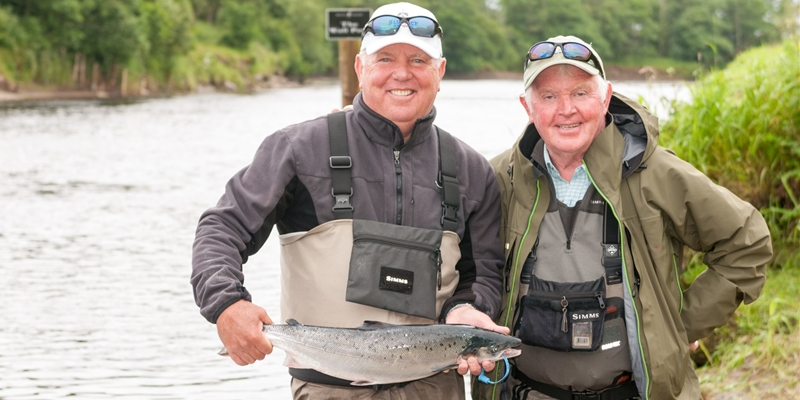 Mark O'Meara fishes The Moy